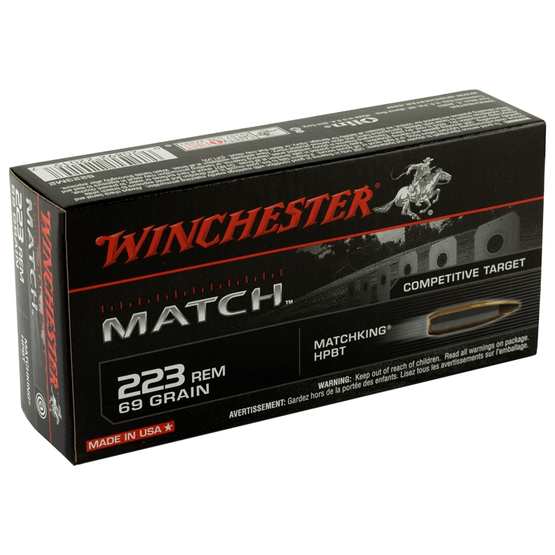 Winchester Sierra MatchKing 223 Remington 69 Grain Boat Tail HP