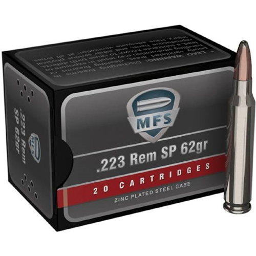 MFS 223 Remington 62 Grain Soft POint Ammunition