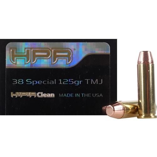 HPR HyperClean 38 Special Ammo 125 Grain Total Metal Jacket