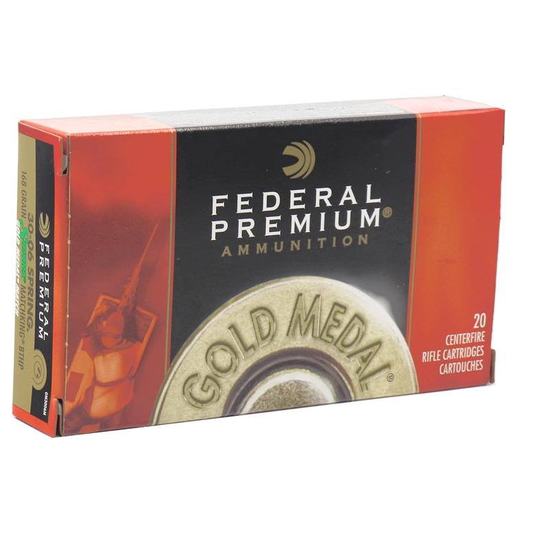 Federal Gold Medal 30-06 Springfield Ammo 168 Gr Sierra MKHP
