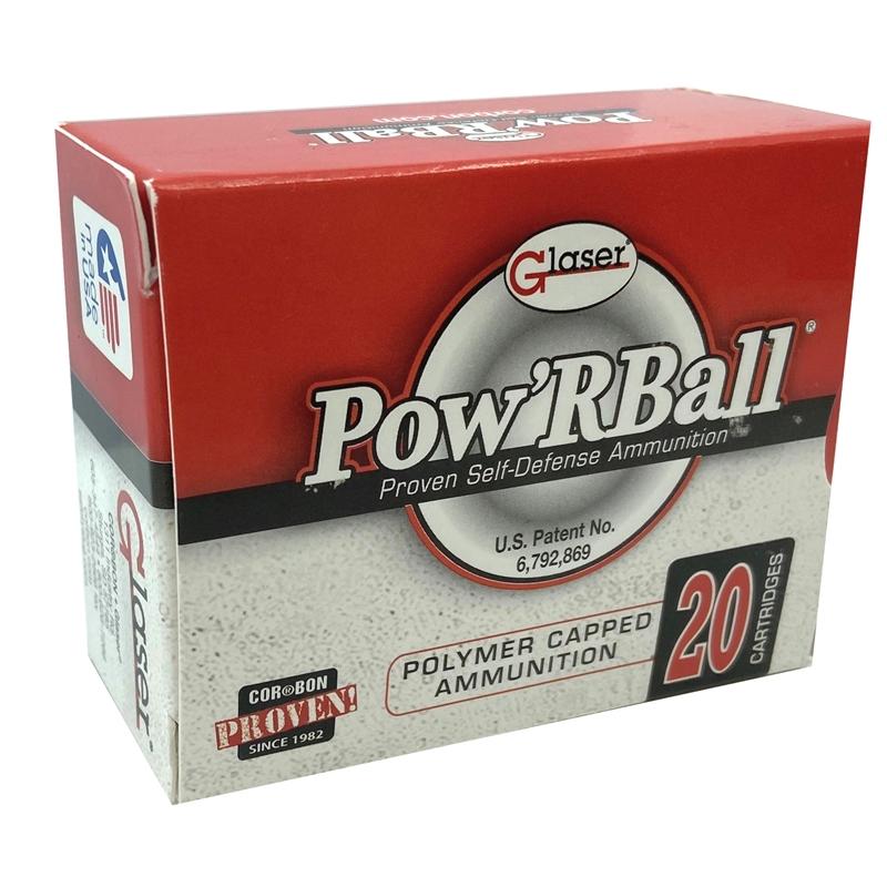 Cor-Bon Pow'R Ball 45 ACP AUTO Ammo +P 165 Grain JHP