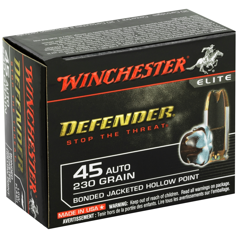 Winchester PDX1 45 ACP AUTO 230 Grain Bonded Hollow Point