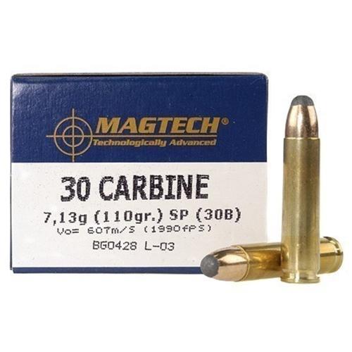 Magtech Sport 30 Carbine Ammo 110 Grain Soft Point