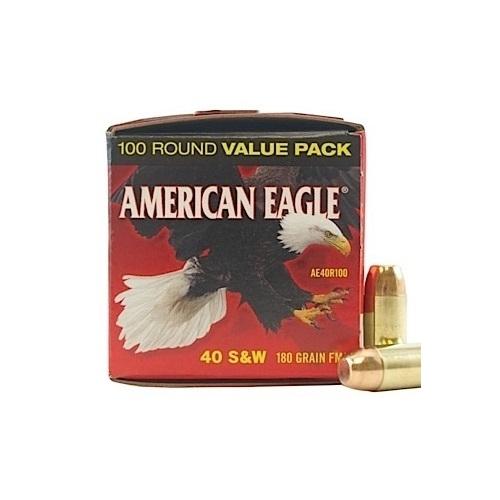 Federal American Eagle 40 S&W Ammo 180 Gr FMJ 100 Rds VP