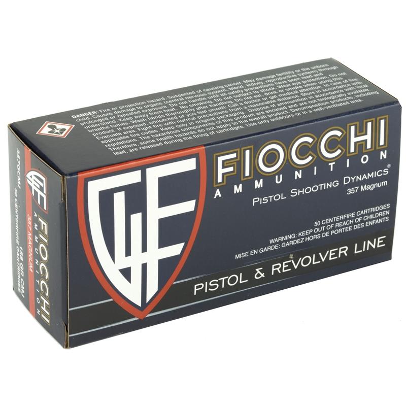Fiocchi Shooting Dynamics 357 Magnum Ammo 158 Grain FMJ