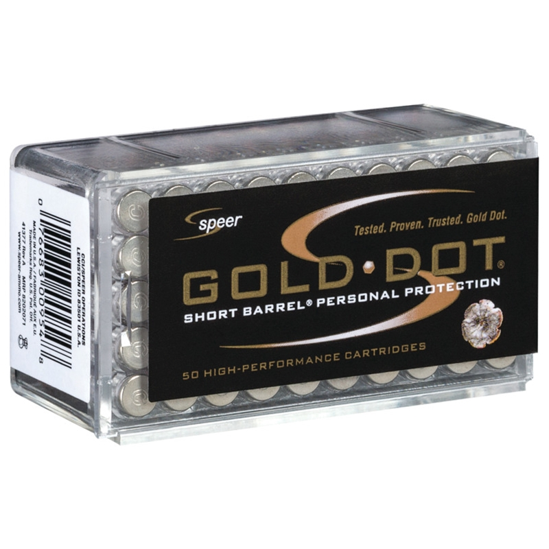 Speer Gold Dot Short Barrel 22 WMR Ammo 40 Grain JHP
