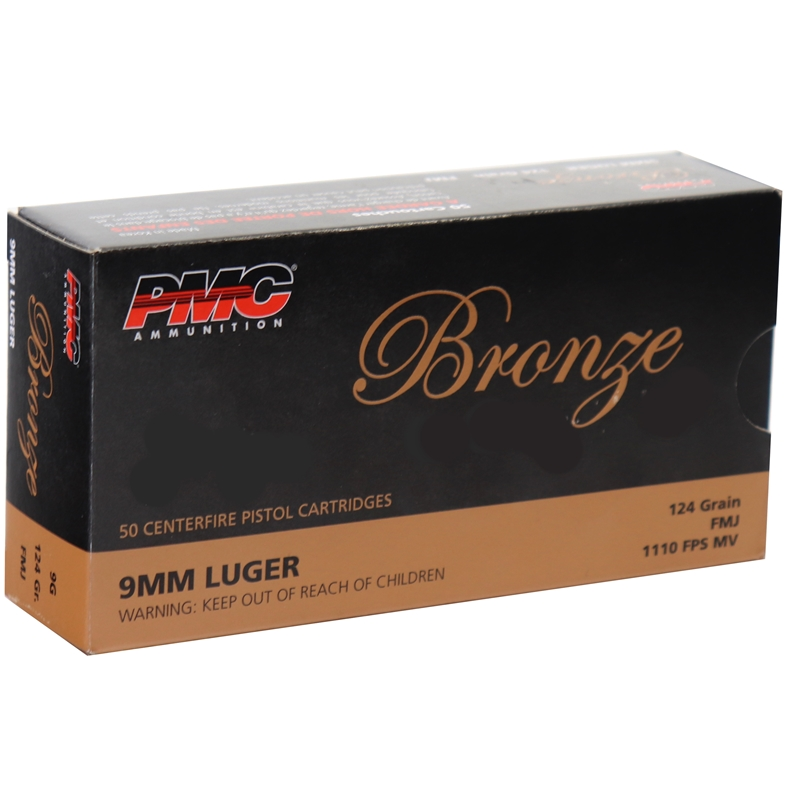 PMC Bronze 9mm Luger Ammo 124 Grain FMJ