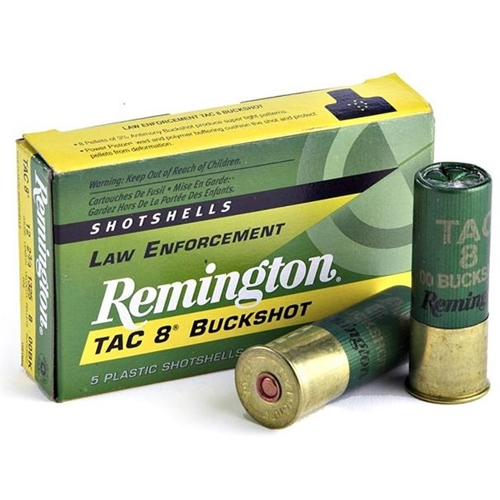 "Remington Law Enforcement Tac-8 12 Gauge 2-3/4"" 00 Buckshot 8 Plt"