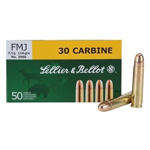 Sellier & Bellot 30 Carbine Ammo 110 Grain FMJ