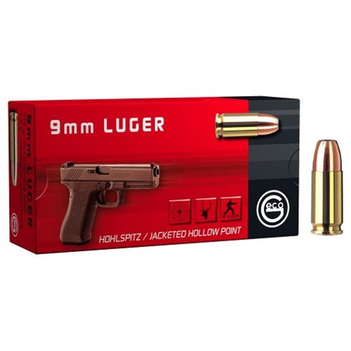 Geco 9mm Luger Ammo 115 Grain Jacketed Hollow Point