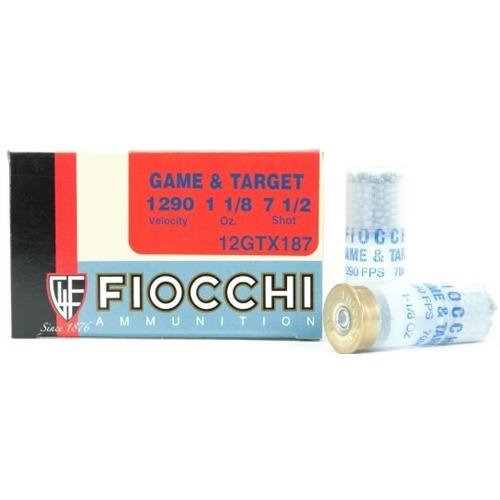 "Fiocchi Game & Target 12 Gauge Ammo 2 3/4"" 1 1/8 oz # 7.5 Lead Shot"