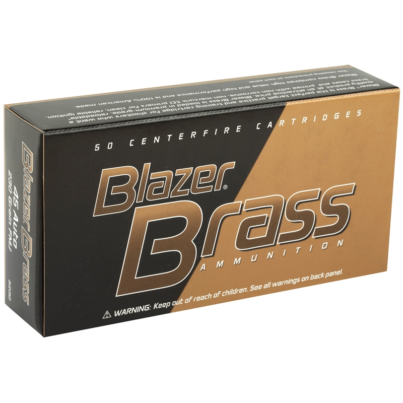 CCI Blazer Brass 45 ACP AUTO Ammo 230 Grain Full Metal Jacket