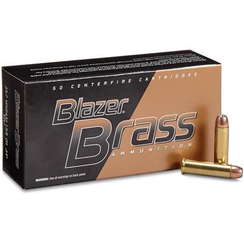 CCI Blazer Brass 357 Magnum Ammo 158 Grain JHP