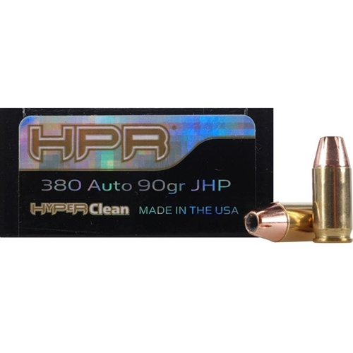 HPR HyperClean 380 ACP Auto Ammo 90 Grain XTP Jacketed Hollow Point
