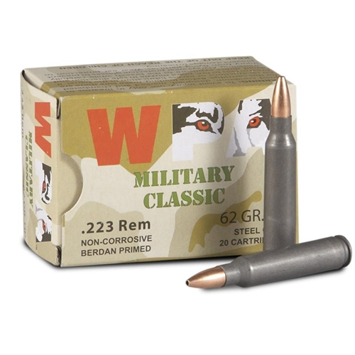 Wolf MC 223 Remington Ammo 62 Grain HP Steel Case