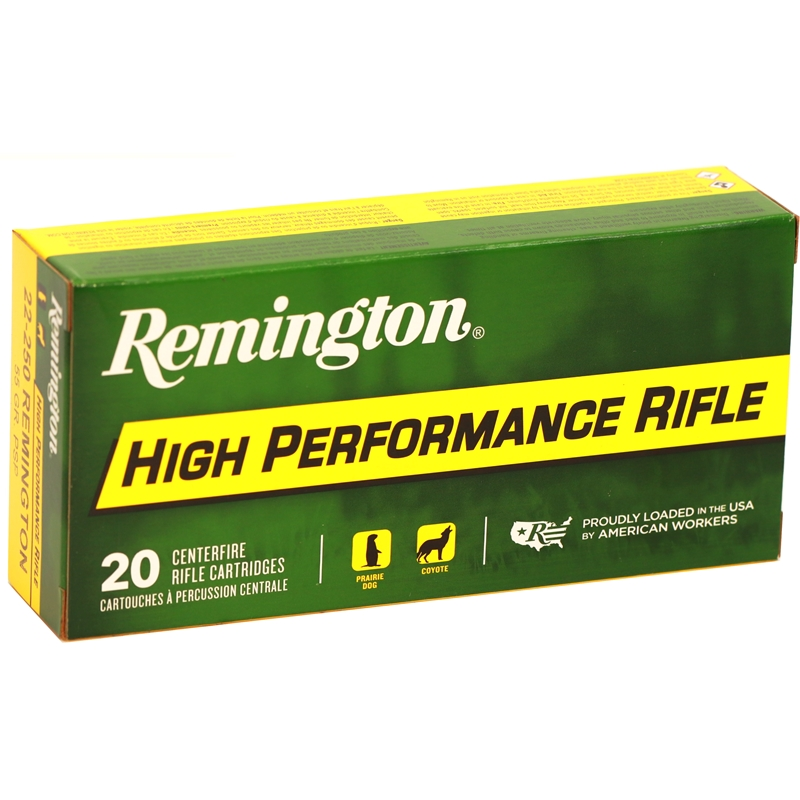 Remington Express 22-250 Remington Ammo 55 Grain PSP