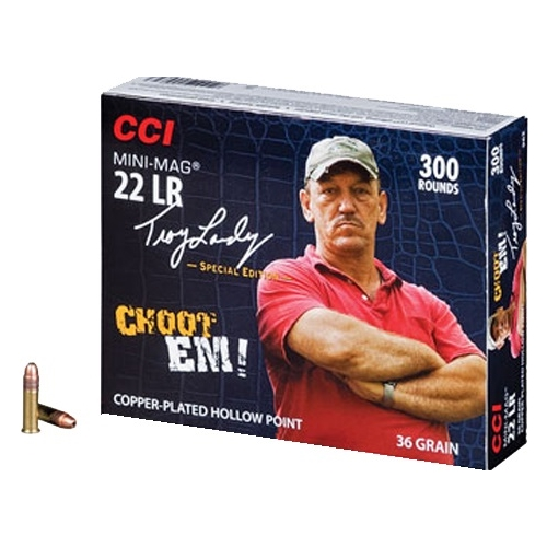 CCI Swamp People Mini-Mag 22 Long Rifle Ammo 36 Gr Plated Lead HP