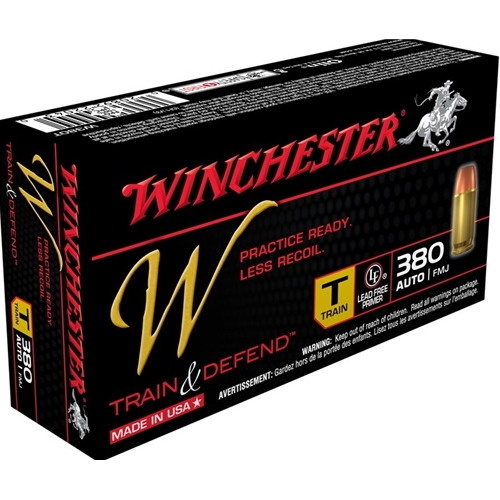 Winchester W Train & Defend 380 ACP Auto 95 Gr Full Metal Jacket