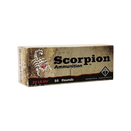 ATI Scorpion 22 LR High Velocity Ammo 40 Grain Solid Point