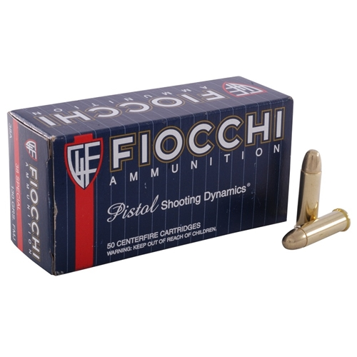 Fiocchi Shooting Dynamics 38 Special Ammo 125 Grain CMJ