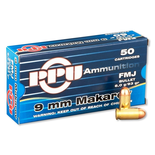 Prvi Partizan 9mm Makarov Ammo 93 Grain Full Metal Jacket