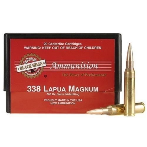 Black Hills 338 Lapua Magnum Ammo 300 Grain Sierra MatchKing HPBT