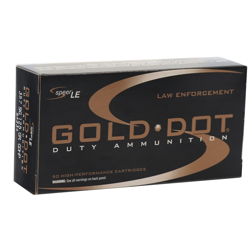Speer Gold Dot LE Duty 357 SIG Ammo 125 Grain JHP