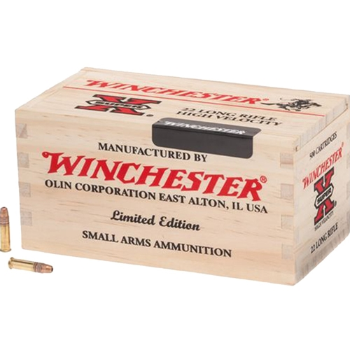 Winchester Super-X High Velocity 22 Long Rifle Ammo 36 Grain Plated Hollow Point Limited Edition