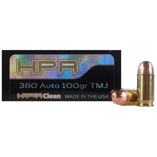 HPR HyperClean 380 ACP Auto Ammo 100 Grain Total Metal Jacket