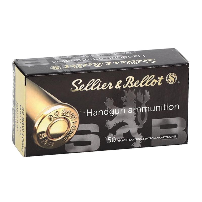 Sellier & Bellot 32 S&W Long Ammo 100 Grain Lead Wadcutter