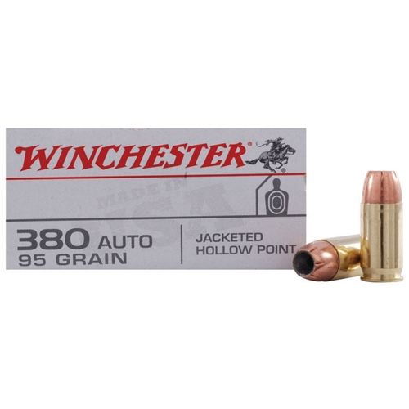 Winchester USA 380 ACP AUTO 95 Grain JHP