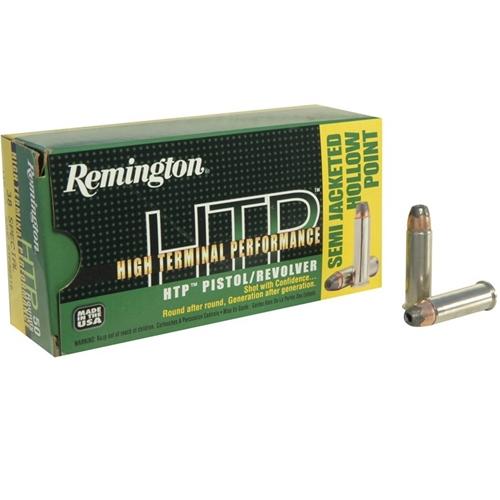 Remington HTP 38 Special Ammo +P 110 Grain Semi JHP