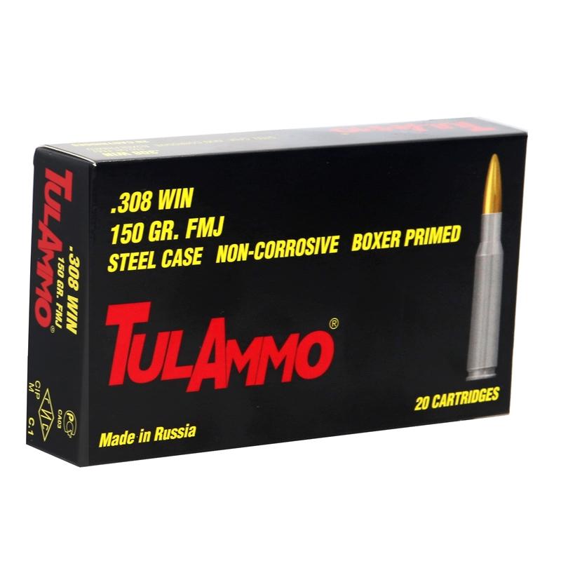 Tul Ammo 308 Winchester 150 Grain FMJ Steel Case