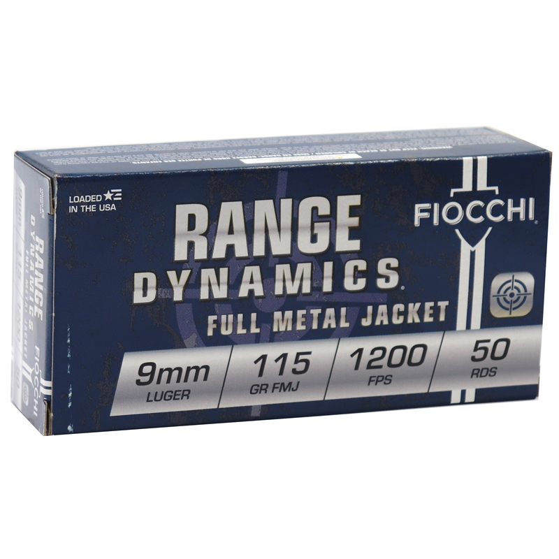 Fiocchi Shooting Dynamics 9mm Luger 115 Grain FMJ