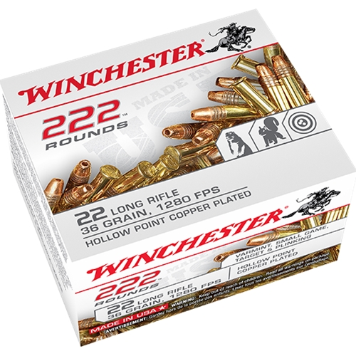 Winchester 22 Long Rifle 36 Grain Plated Lead Hollow Point