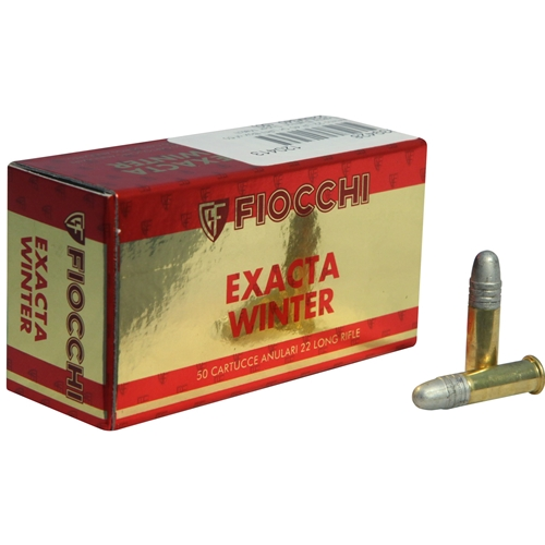 Fiocchi Exacta Winter Super Match 22 Long Rifle Ammo 40 Grain Lead Round Nose