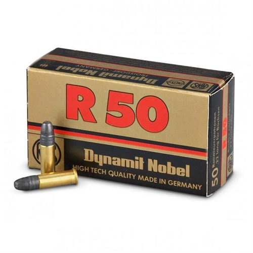 RWS R-50 22 Long Rifle Ammo 40 Grain Lead Round Nose