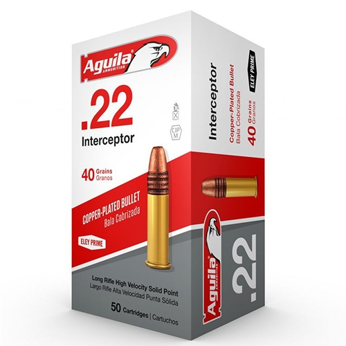 Aguila Interceptor 22 Long Rifle Ammo 40 Grain PLRN