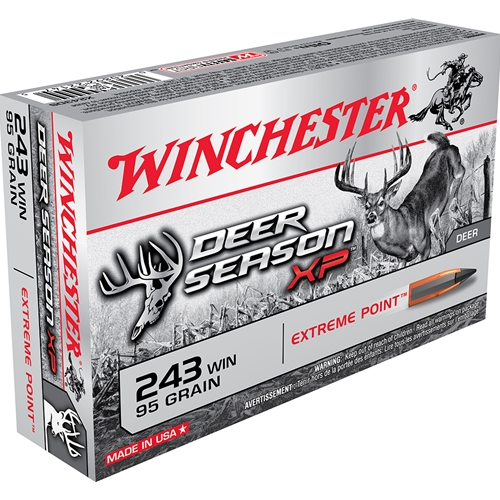 Winchester Deer Season XP .243 Win 95 Grain Extreme Point Polymer Tip