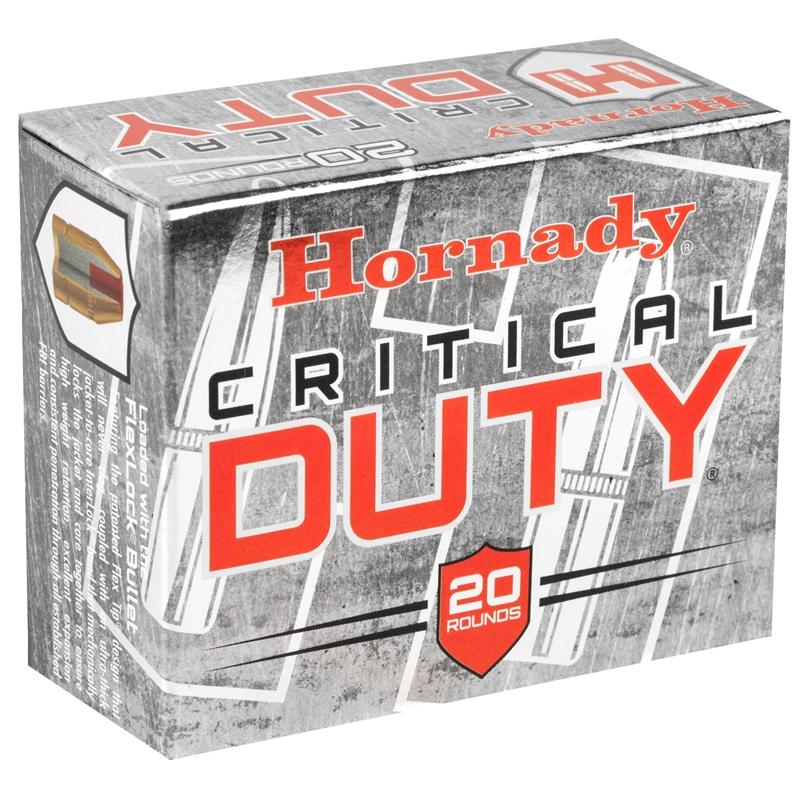 Hornady Critical Duty 357 SIG Ammo 135 Grain FlexLock