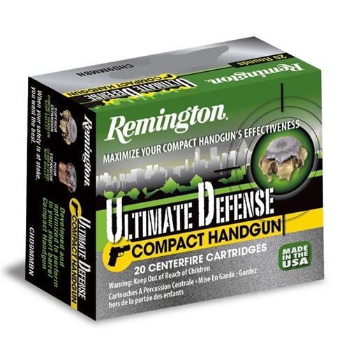 Remington Ultimate Defense Compact 40 S&W Ammo 180 Grain BJHP