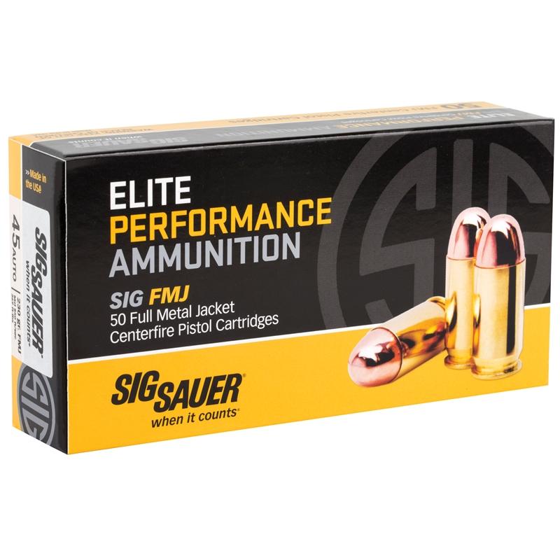 Sig Sauer Elite Performance 45 ACP Auto Ammo 230 Gr FMJ