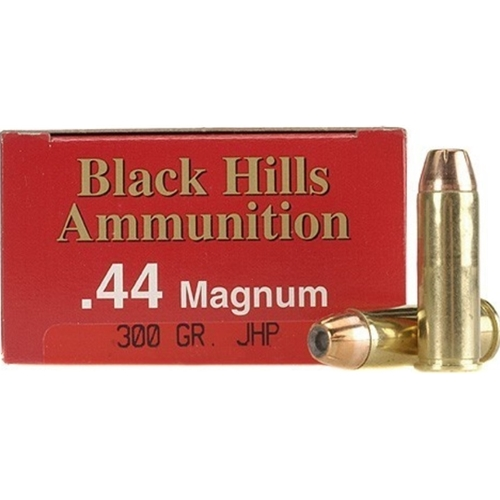 Black Hills 44 Remington Magnum Ammo 300 Grain JHP