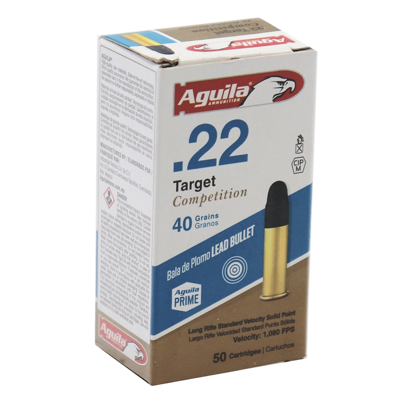 Aguila Target 22 Long Rifle Ammo 40 Grain Standard Velocity SP