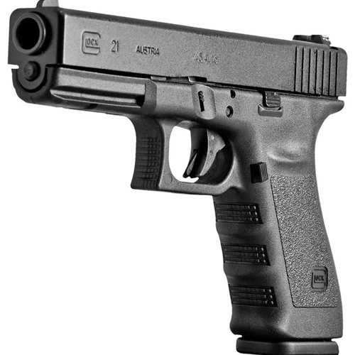 Glock 21 3rd Gen Handgun 45 ACP AUTO 13 Rounds Black Police Trade-In