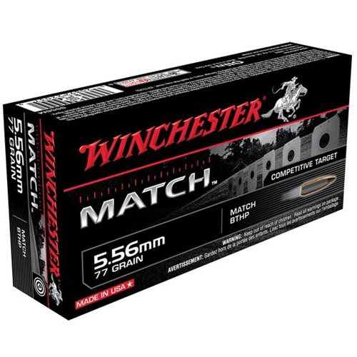 Winchester Match 5.56mm 77 Grain Boat Tail Hollow Point