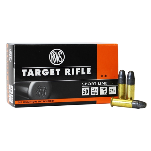 RWS Target Rifle 22 Long Rifle 40 Grain Lead Round Nose