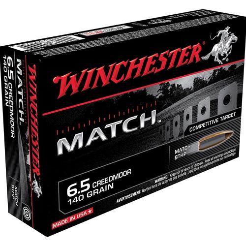 Winchester Match 6.5 Creedmoor 140 Grain Sierra MatchKing HPBT