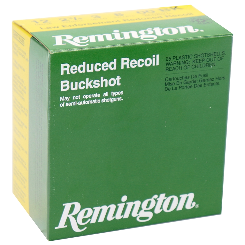 "Remington LE Reduced Recoil 12 Gauge Ammo 2-3/4"" 00 Buckshot"