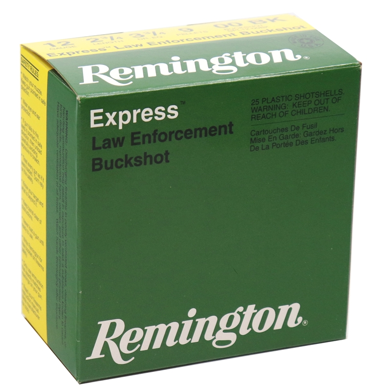 "Remington LE 12 Gauge Ammo 2-3/4"" 00 Buckshot 9 Pellets"